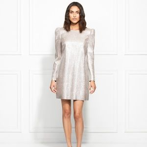 NWT Rachel Zoe Millie Metallic Suiting Dress Sz 2